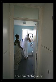Bride in preparation