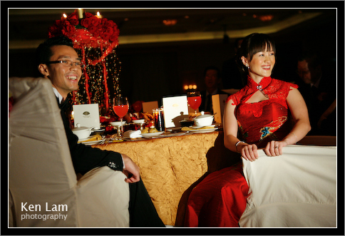 Wedding Mandarin Oriental Hotel - watching my photo slideshow!